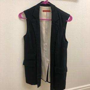 Alice + Olivia Black Slim Tailored Vest
